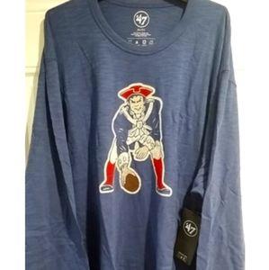 New England Patriots Retro Vintage T Shirt long